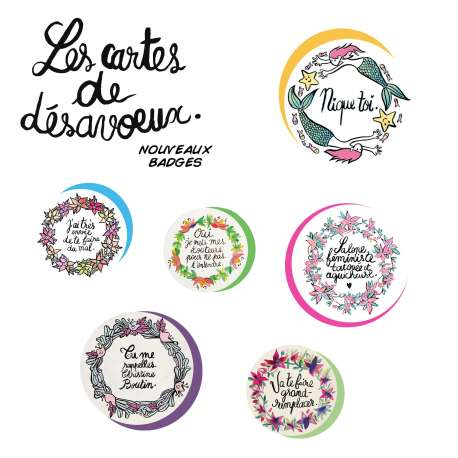 Pack badges Deloffre par 6