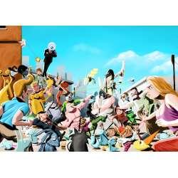 Geoffroy Monde, tableau bataille de lapins