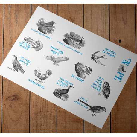 Stickers Eiffin' Birds