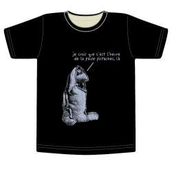Tee-shirt Lapin coupe-col rond sexe-homme taille-S